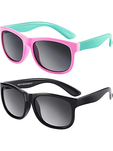 7b1dee248c 2 Piezas de Gafas de Sol Polarizadas de Niños Flexibles de Goma Gafas de Sol  de