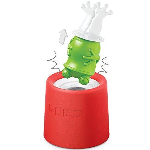 ZOKU ZK123-011 Eisformen Ice Pop Frosch, 45 ml, Kunststoff, grün