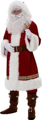 Rubie 's Offizielles Super Deluxe Santa Anzug Old Time mit Kapuze Erwachsene Kostüm Standard