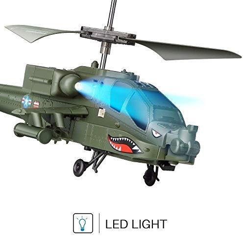Fofofs Fernbedienung flugzeug 3ch simulation schlacht militär modell hubschrauber rc drone rc hubschrauber tier fernbedienung spielzeug ah-64 militär modell rtf fliegen jungen spielzeug kinder geschen
