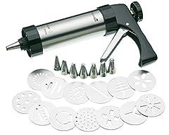 Idea Regalo - Kitchen Craft, Set Pâtisserie: Pistola per dolci con trafile [Importato da Regno Unito]