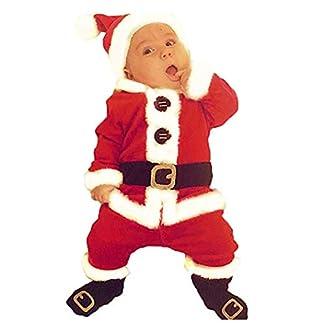 Hailouhai Traje de Navidad Traje de Traje Unisex de Santa para Adultos Set para Cosplay de Fiesta, Traje de Papá Noel para Adultos de Navidad