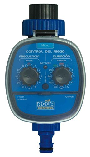 AQUA CONTROL Programador de Riego, Azul, C4099N