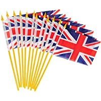 British Union Jack Table Flags Pk12