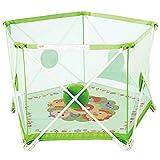 WYJW Baby-Laufgitter | 75cm Sicherheitshöhe | Haushaltskleinkindzaun | Säuglingskrabbeldecke für drinnen und draußen | Tragbar, faltbar (100 Bälle im Lieferumfang enthalten)