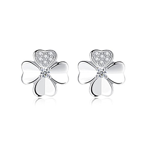 (Dreamy Damen Ohrstecker Blume 925 Sterling Silber Zirkonia Loop Ohrringe)