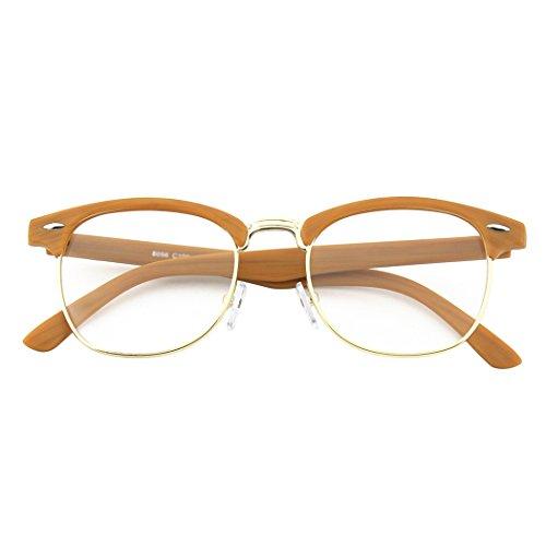 CGID 50er Jahre Retro Nerd Brille Halbrahmen Hornbrille Stil Rockabilly Streberbrille,Grün