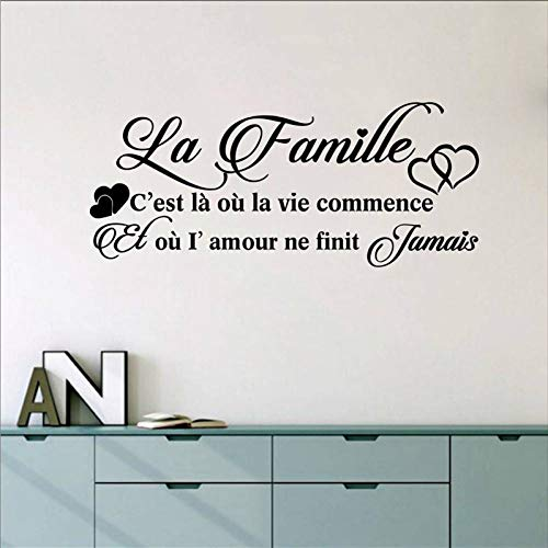 ZHOUZXY Vinyl Mural Wall Decals Sticker France Family Decor Wall Art Decals Home Living Room Bedroom Wall Decoration -