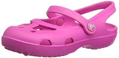 Crocs Shayna G, Mädchen Durchgängies Plateau Ballerinas, Pink (Neon Magenta 6L0), 19/20 EU