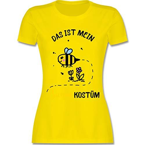 Karneval & Fasching - Das ist Mein Bienen Kostüm - M - Lemon Gelb - L191 - Damen T-Shirt Rundhals