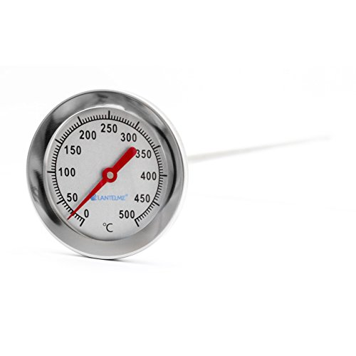 Lantelme 500 °C Grad, 50 cm, Bimetall, Backofen, Bratofen, Holzofen, Holzbackofen, Pizzaofen, Ofen Thermometer Analog
