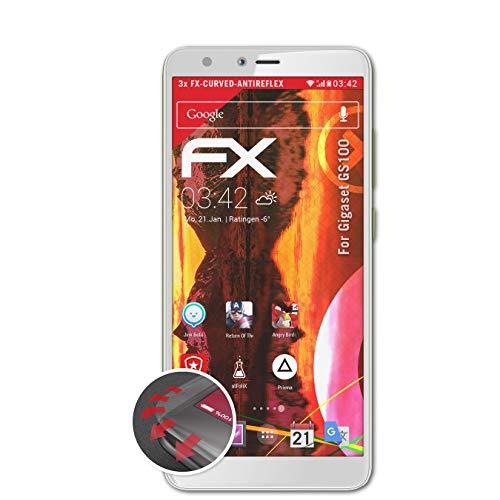 atFolix Schutzfolie passend für Gigaset GS100 Folie, entspiegelnde & Flexible FX Bildschirmschutzfolie (3X)