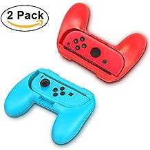 2 Pack Nintendo Grip Kits [Resistente al desgaste] Joy-Con Grips Mango de pulgar manejar el caso (azul y rojo) por YONTEX