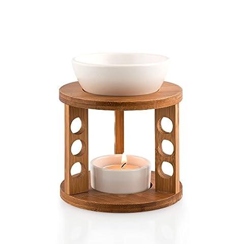 Pajoma 13813.0 puckator brûleur de parfum bamboo en bambou et céramique