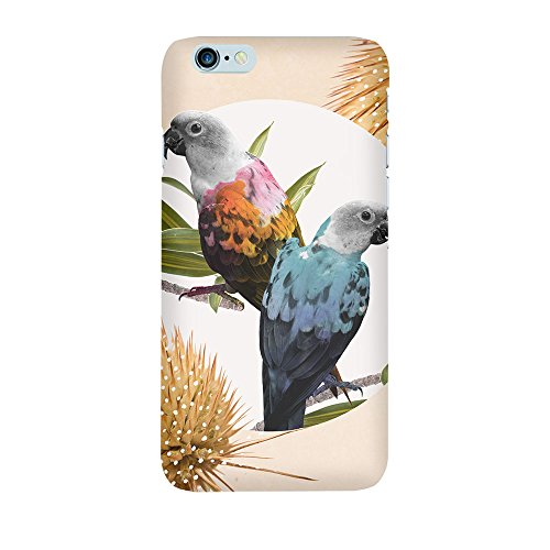 iPhone 4/4S Coque photo - crème Jolly Perroquets