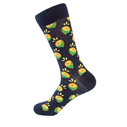 XuxMim Winter-Frucht-Druck der Frauen weiche warme starke kalte gestrickte Crew-Socken