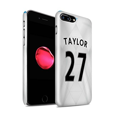 Offiziell Newcastle United FC Hülle / Glanz Snap-On Case für Apple iPhone 7 Plus / Townsend Muster / NUFC Trikot Away 15/16 Kollektion Taylor