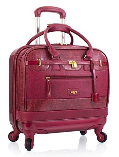 Aktenkoffer mit Rollen Damen Business Trolley von Heys Marsala Rot Bowatex (Heys-laptop-tasche)