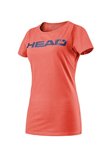 HEAD Kinder Transition Ivan JR T-Shirt, Coral/Navy, 140
