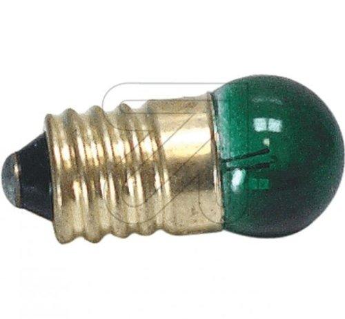 Globe Glühbirne (Ersatz 10 Stück Kugellampe E10 grün 3,5V 0,2 A Glühlampe Glühbirne)