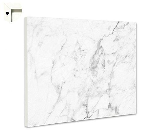 Magnettafel Pinnwand Motiv Muster Marmor hell Größe 60 x 40 cm -