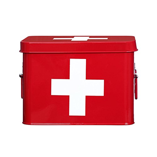retro-medicine-box-red-with-white-cross-features-2-carry-handles-first-aid-medical-box-tin-storage