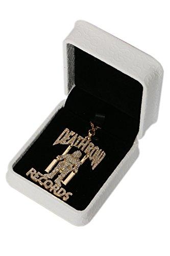 Mesky Tupac Herren Halskette Hip Hop Halsketten Musik Kollektion Necklace Kette Anhänger aus Legiereung Golden Cosplay Kostüm Zubehör für Alltag