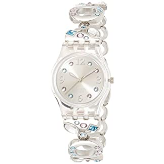 Swatch Reloj Analógico de Cuarzo para Mujer con Correa de Acero Inoxidable – LK 292G