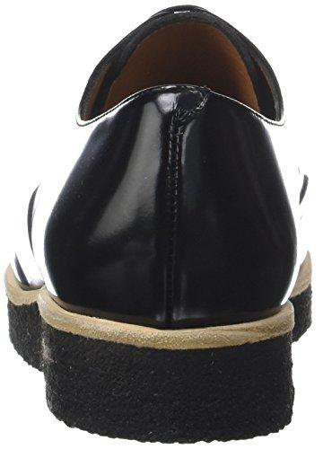 Emma Go Calvin Crepe, Chaussures À Lacets Derby Femme Multicolore (cordoban Black + Pony Copper)