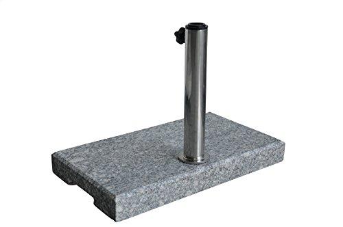 Zangenberg Sonnenschirmständer, Granitständer 23 kg, eckig, grau, 50 x 28,5 x 4 cm, 69265_000