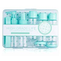 Travel Bottles Set 12pcs Empty Plastic Leak Proof Containers, Toiletries Containers for Shampoos, Lotions, Creams