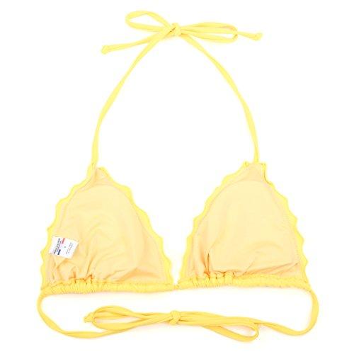 RELLECIGA Damen Bademode Triangel Bikini mit Unterteil im Brasil Style Gelb