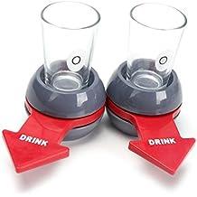 BESTZY Spin the Shot - Juego de 2 vasos de chupito para bares, fiestas,