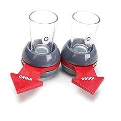 Idea Regalo - Spin The Shot,2Pcs BESTZY Shot spinner Drinking Game,novità Drinking Game,bicchierini da shot spinner gioco,freccia rossa shot spinner bingo giocattolo per bar parti vacanze