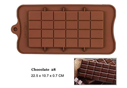 FTFSY Silicone Chocolate Mold 29 Shapes Chocolate Baking Tools Non-Stick Silicone Cake Mold Jelly and Candy Mold 3D Mold,Chocolate 28 28 Chocolate Mold