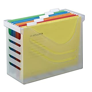 Jalema Atlanta Silky Touch Office Box Complete with 5 Files - White
