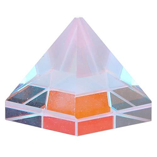 3 Form optisches Glas Prisma, Pyramide Kristall Prisma Ornament für die Forschung Dekoration (3) -