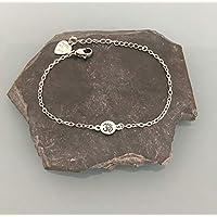 Bracciale donna con ciondolo om argento, cinturino zen om, regalo donna, gioielli regali