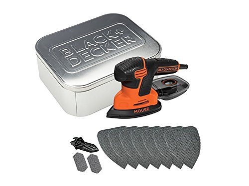 Black & Decker KA2000AT Dreieckschleifer Mouse® 120 W + 10tlg Zubehör Metalldose