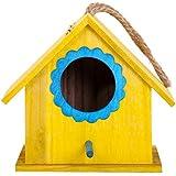 Szseven Bird House, Boîte De Reproduction De Nid À Oiseaux en Bois pour Extérieur, pour Maison Munia Sparrow, Inséparables, Budgies, Cockatiel Perroquet