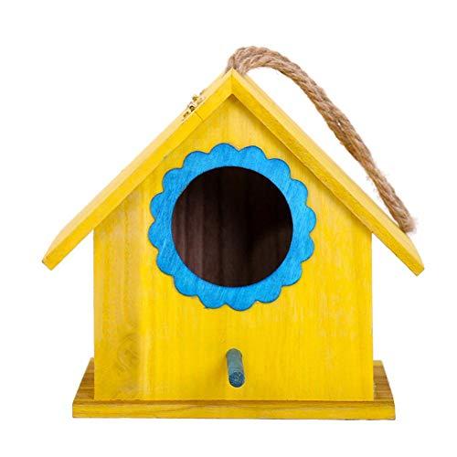 Luerme Maison d'oiseau Grand nid d'oiseau Suspendu en Bois de de Nouveauté Jardin Boîte de Nidification d'oiseau Boîte d'élevage de nichoirs pour Cockatiel Perroquet Petits Oiseaux