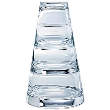 Durobor Vertigo 0797//80 pyramidenf/örmige Schalen aus durchsichtigem Glas im 3er-Set