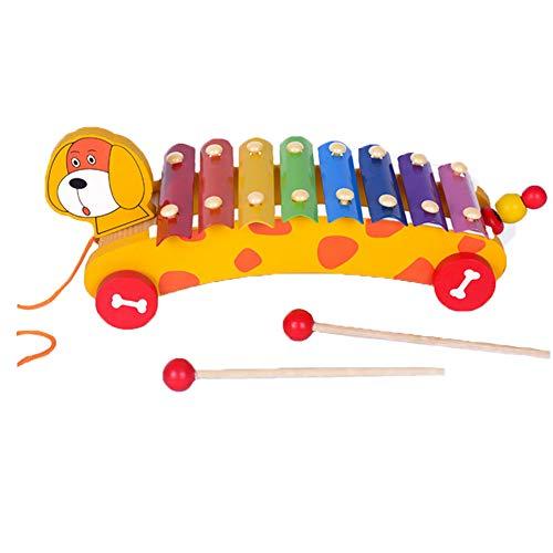 NiceButy/Trifycore Giocattolo per Bambini Musicale Xilofono Musicista Giocattolo Mazze di Legno Little Hands Creare Suoni magici Colorati Giocattoli educativi per i Bambini Dog Style 1Set
