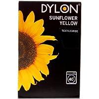 Dylon Sunflower Yellow - Tinte para ropa (200 g), color amarillo