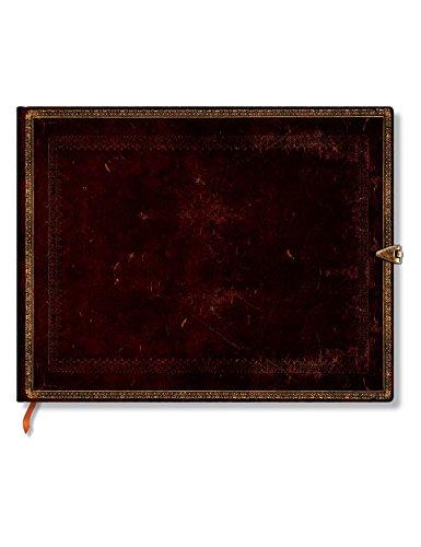 Faux Leder schwarzes Marokkoleder - Gästebuch Unliniert - Paperblanks (Home Leder Faux Decor)