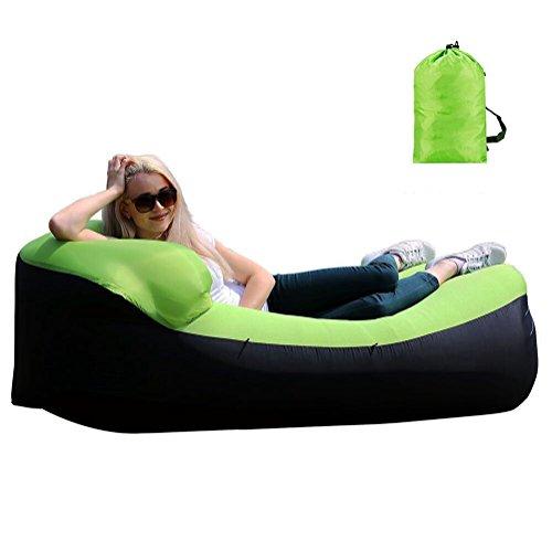 AVNTEN Wasserdichtes Aufblasbares Sofa, Aufblasbare Liege, Tragbar Aufblasbarer Sitzsack, Aufblasbare Couch für Reisen, Luft Liege für Camping, 240x75x70CM Air Sofa