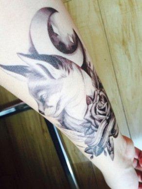 arte-corporal-pegatinas-tatuaje-removibles-temporales-lobo-pegatina-tatuaje-modavida-fashionlife