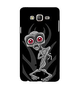 Scared Skeleton 3D Hard Polycarbonate Designer Back Case Cover for Samsung Galaxy On7 :: Samsung Galaxy On 7 G600FY
