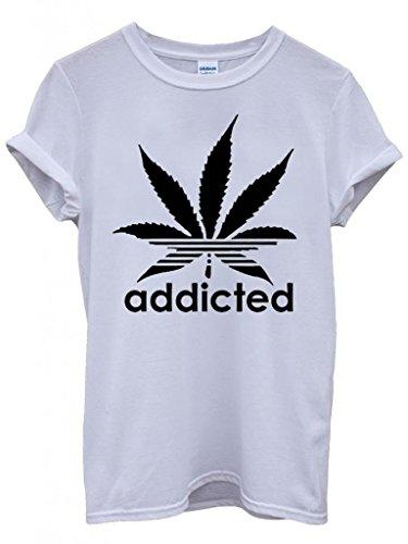 addicted-cannabis-funky-cool-funny-hipster-swag-white-wei-damen-herren-men-women-unisex-top-t-shirt-