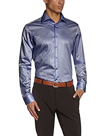 Jacques Britt Herren Slim Fit Businesshemd BRAD MOON 174281, Gr. X-Large (Herstellergröße: 44XL), Blau (navy)